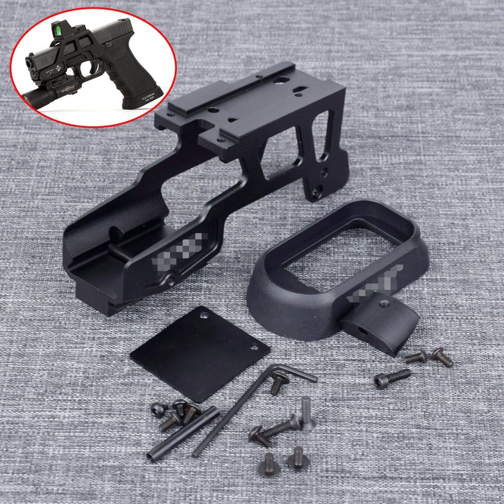 Táctico AIG 6 segundo óptica alcance montaje T1 T2 H1 RMR para Marui que KWA pistola Gen3 Glock 17 18C 22 24 31 34 35 con Magwell