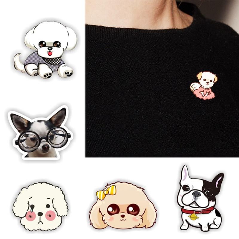 Skirt Hat Men Cute Fashion Jewelry Party Cartoon Sweater Animal Brooch Bag 1PC Dog Acrylic Collar Valentines Gift Cowboy Wear