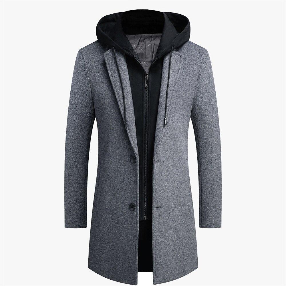 Cabolsas de lã dos Homens Moda Masculina Outono Inverno Cabolsa Tamanho Grande Masculino Casual Streetwear Jaquetas