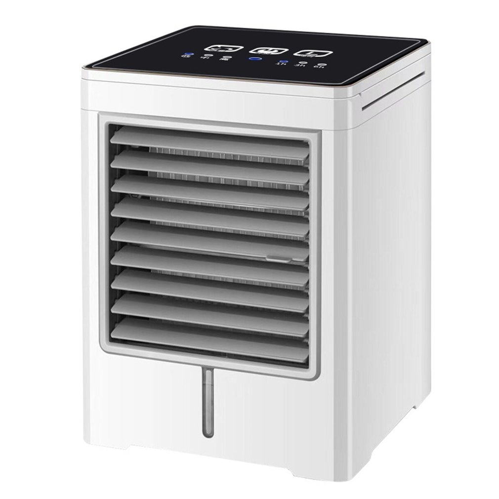 Portable Air Conditioner Touch Screen Mini Air Cooler Desktop Usb Cold Fan Home Small Water Cooled Air Conditioning Fan
