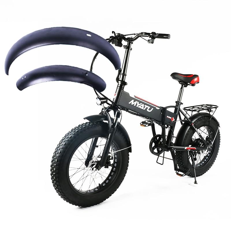 20 بوصة على الجليد دراجة كهربائية دقيق الشوفان E-الدراجة الدهون الإطارات الحاجز الجناح 20x4.0 للطي الدراجة الألومنيوم قوي دائم واقي من الطين