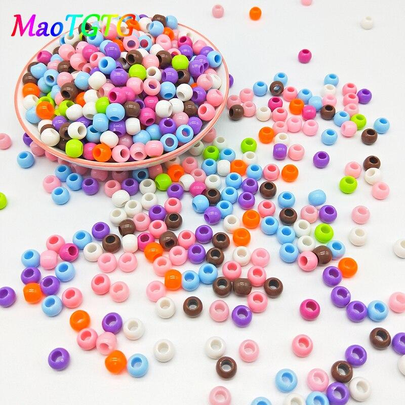 100pcs/lot Acrylic Beads For Jewelry Making Necklace Bracelet 8mm Mixcolor Round Acrylic Beads Jewelry Making Bangle Wholesale