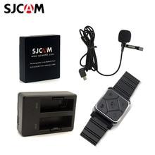Originele Sjcam SJ6 Camera Accessoires Extra 1 Batterij + Dual Charger + Remote Horloge + Microfoon Voor SJ6 Camera