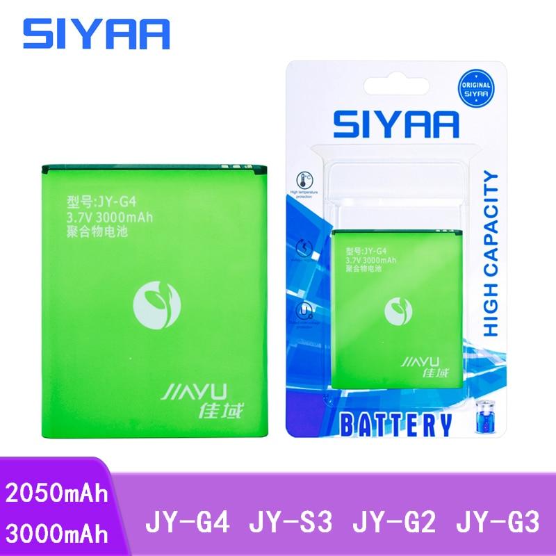 Аккумулятор для мобильного телефона SIYAA, JY-G4, JY-S3, JY-G2 для JIAYU G4 G4S G4T JYS3 JYG2 G3, литий-полимерная батарея для замены