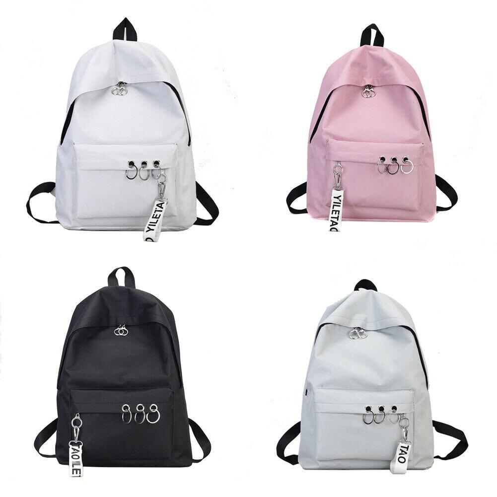 Mode Frauen Leinwand Schule Tasche Mädchen Rucksack Reise Rucksack Schulter Taschen