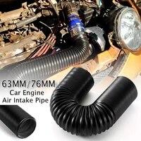 1m 6376mm car engine flexible air hose air intake pipe inlet hose tube car air filter intake cold air ducting feed hose pipe