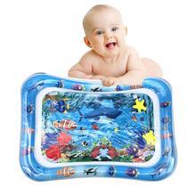 Bebek şişme açık palyaço balığı okyanus hayvan su yastığı çocuklar oyun matı yaz yüzme plaj havuzu oyunu serin halı oyuncak