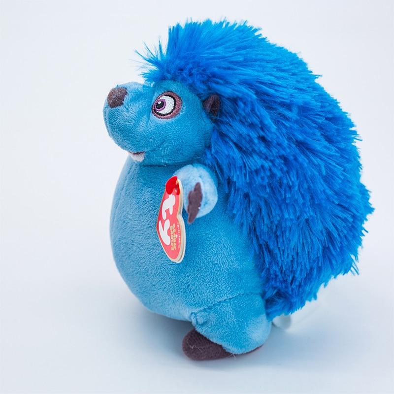 15 CM Ty Beanie Big Eyes Bull Big Adventure Blue Hedgehog Cuatro Plush Toy Stuffed Animal Doll Birthday Gift for Boys and Girls
