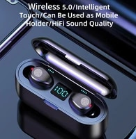 new f9 wireless bluetooth 5 0 earphone tws hifi mini in ear sports running headset support iosandroid phones hd call