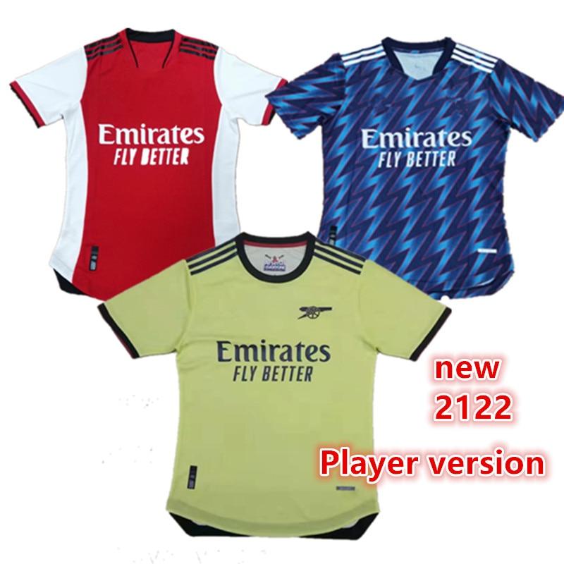 Odegaard 2122 new Player shirt XHAKA Top Quality adults AUBAMEYANG BELLERIN SAKS LACAZETTE PEPE new 21 22 ArsenalES shirt