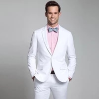 mens classic suits groom wedding white tuxedos 2piecesjacketpants 2020 bridegroom outfits costume homme slim terno masculino