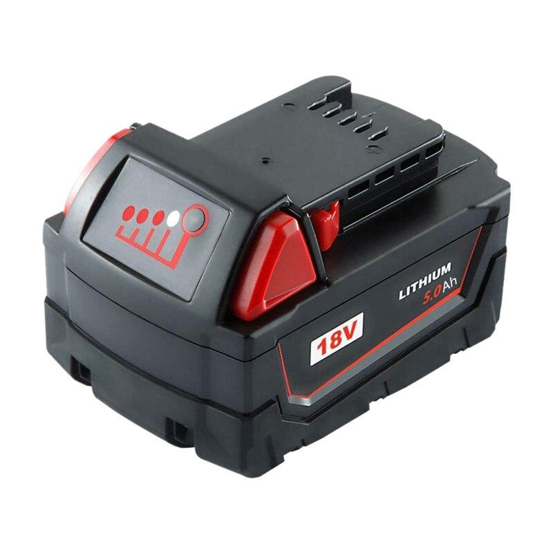 5.0Ah M18 batterie de remplacement Lithium-Ion pour outils électriques sans fil Milwaukee 18V