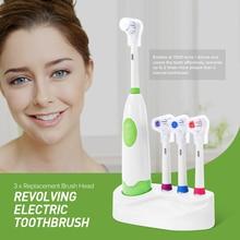 1 Set Neue Design Batterie Betrieben Elektrische Zahnbürste Wasserdichte Dental Care Dreh Zahnbürste Köpfe + 3 Düsen Mundhygiene
