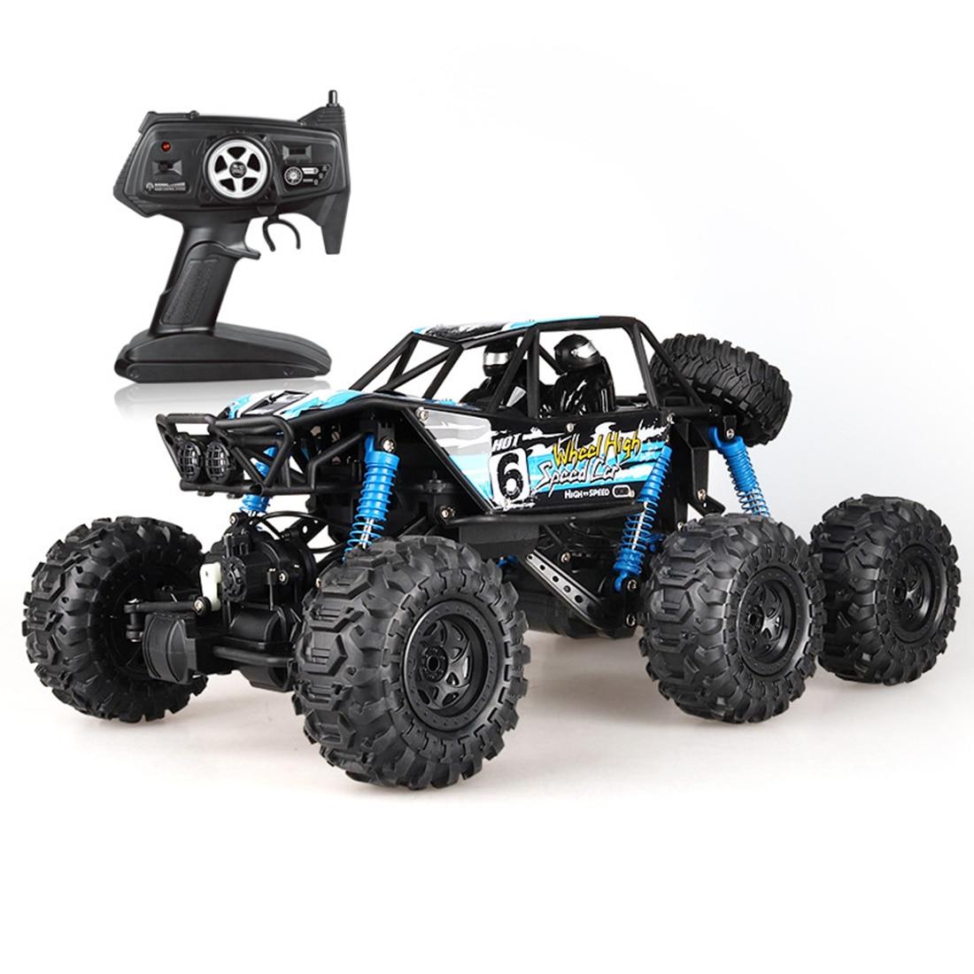 48cm 18 6WD 2,4G RC coche de escalada todoterreno anfibio coche de alta velocidad juguete para regalo educativo para chico adulto-azul amarillo XL
