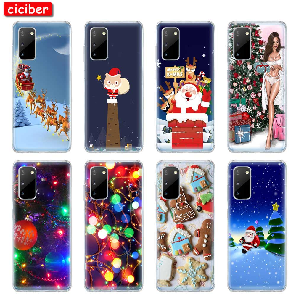 Noël TPU pour Samsung Galaxy A50 A51 A71 A70 A20E A10 A40 S10 S9 S8 S7 S20 Plus Ultra S10e NOTE 10 9 8 Plus Housse Coque
