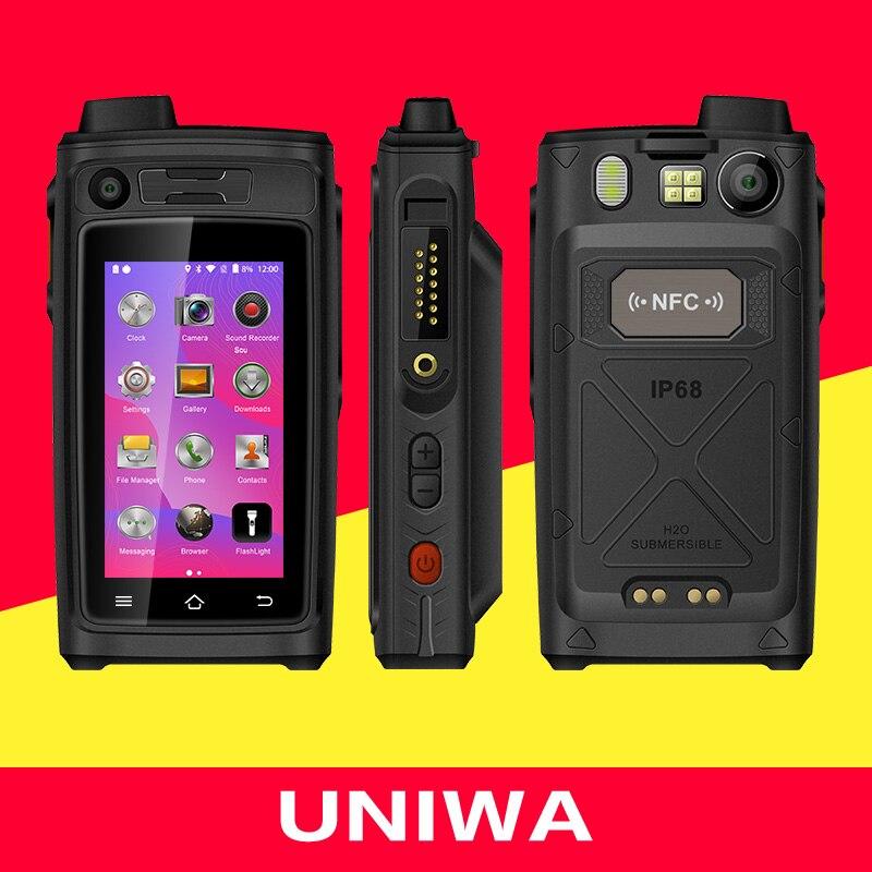 UNIWA A19S IP68 Waterproof Walkie Talkie 4G LTE WalkieTalkie Smartphones Quad Core Android 6.0 Mobile Phone POC Zello 4800mAh