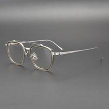 Cubojue Janpanese Eyeglasses Frames Men Vintage Glasses Male Korea Flat Top Small Square Retro Nerd Eyewear for Optical Myopia