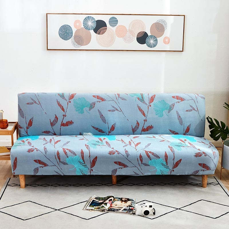 لا مسند ذراع أريكة السرير غطاء مكافحة الانزلاق شامل الأريكة غطاء الغلاف ضيق التفاف مطاطا حامي حالة المنزل الديكور