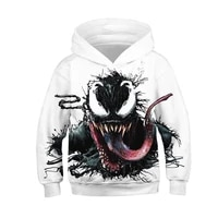 2021 handsome and cool movie deformation venom fashion casual style hoodie 3d printing mens and womens childrens sweatshirts
