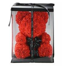 Ours en roses fleurs artificielles cadeau de la saint-valentin   Décoration pour fête danniversaire, décor de mariage, cadeau pour petite amie