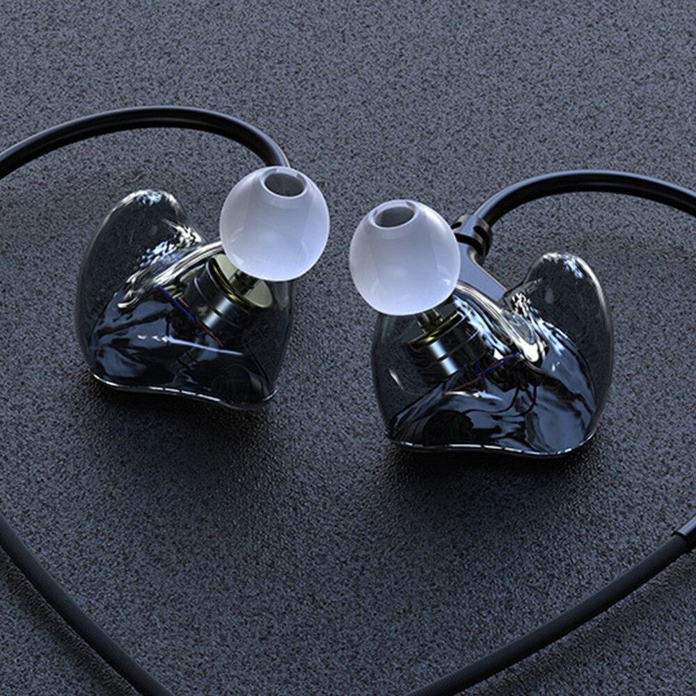 Fdbro earpods s6 quad-core resina fone de ouvido bluetooth em-orelha com fio pluggable linha subwoofer magia linha de som controle fone de ouvido