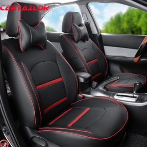 CARTAILOR Cover Seats Protector fit for Dodge Caliber Seat Covers Cars Interior Accessories Black PU Leather Car Seat Cover Set