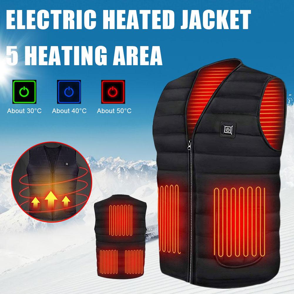 Electric Heated Jacket USB Heated Vest Outdoor Warm Washable Men Women's Warm Vest Winter Autumn Hunting Vest Heated Vest 2020