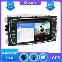 Écran capacitif 2 Din Android 10.0   DVD de Navigation pour Ford Mondeo s-max Focus II GPS Radio Wifi 4G, Bluetooth miroir lien