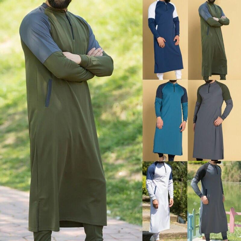 Thawb hommes moyen-orient Robe arabe musulmane Robe islamique caftan dubaï Maxi Thobe caftan caftan ample