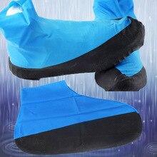1 paire couverture de chaussure en Latex en plein air cyclisme chaussures de pluie couvre-bottes réutilisable imperméable épaississement antidérapant usure couvre-pied protéger