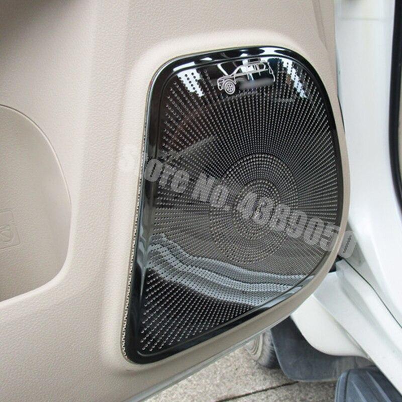 Acero inoxidable para Toyota Land Cruiser Prado 150 J150 2010-2018, accesorios para el coche con cubierta para el altavoz de la puerta interior del coche