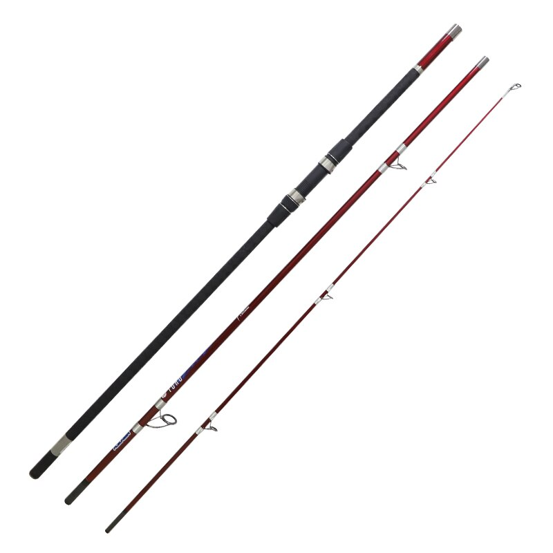 TAIGEK Carp Rod 4.1M 3 Sections Carbon Fiber Frontal/Rotative Guides Spinning Fishing Rod Carp Fishing Rod enlarge