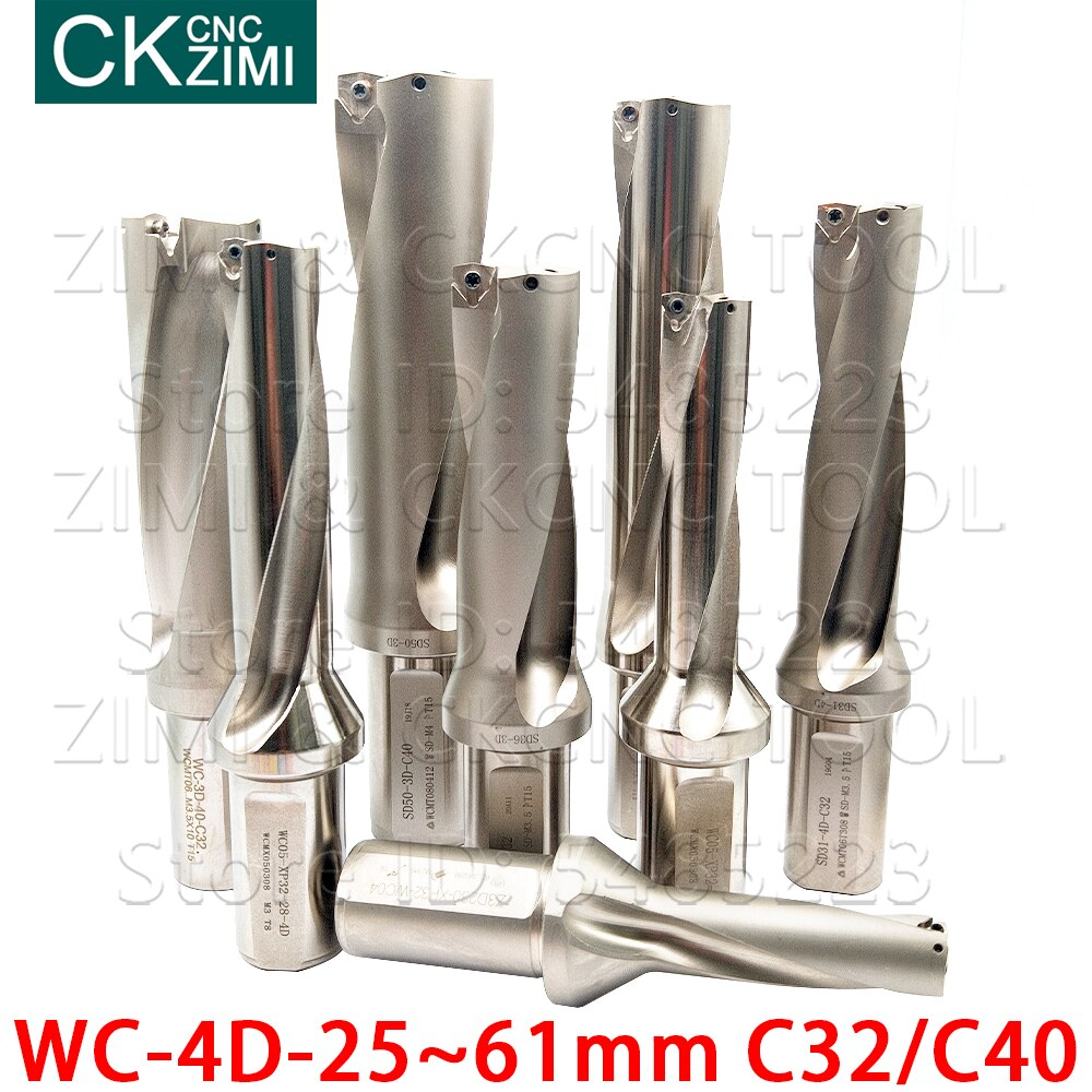 Rápido do Cnc da Broca da Violência do Jato de Água da Broca da Broca de u para Inserções Wcmt da Perfuração Indexável do Bocado do wc Torno Broca para Inserções Wcmx C32 C40 4d Profundidade 25mm-61mm da de u
