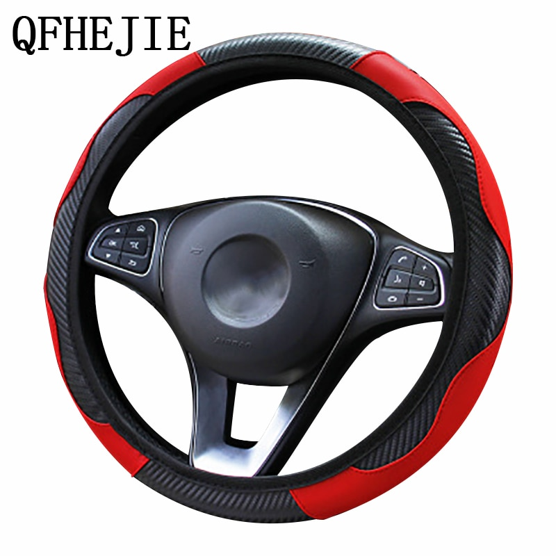 AliExpress - Car Steering Wheel Cover  Breathable Anti Slip PU Steering Covers Suitable 37-38cm Auto steering wheel protective Decoration