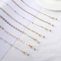 face mask necklace strap fashion metal beaded glasses chain masks lanyards ear saver holder anti lost rope gold eyeglasses chain