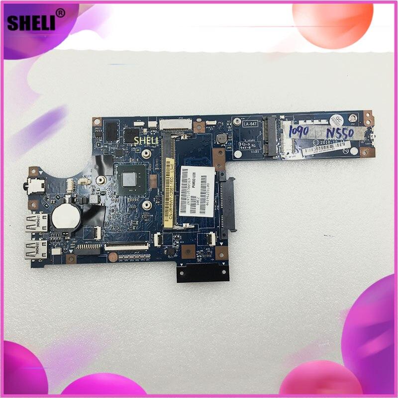 SHELI para DELL CN-08Y6W7 LA-6471P Inspiron Duo 1090 portátil placa base N550 CPU ddr3