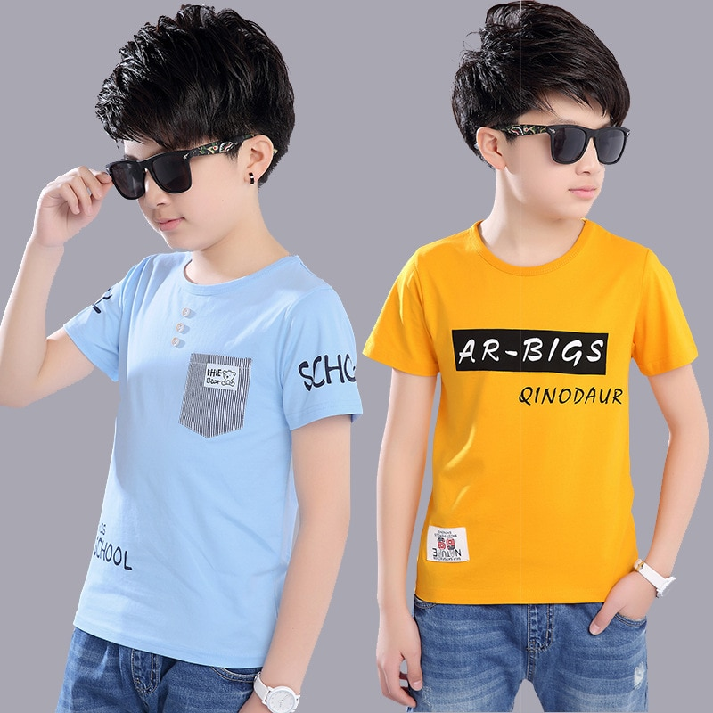 Summer 2020 Baby Boy T Shirt for Children Cotton Tshirt T-shirt Kids Clothes Tops Tee 3 4 5 6 7 8 9 10 11 12 13 14 15 16 Year