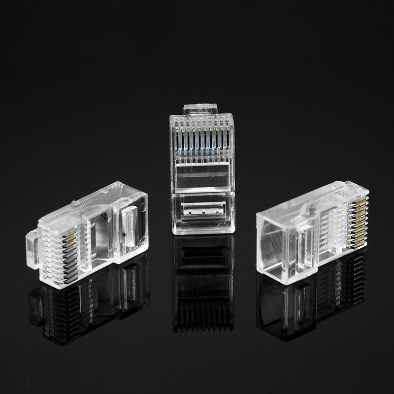 50 Uds 10P10C RJ48 RJ50 conector 10P conector de Cable de red alicates de prensado