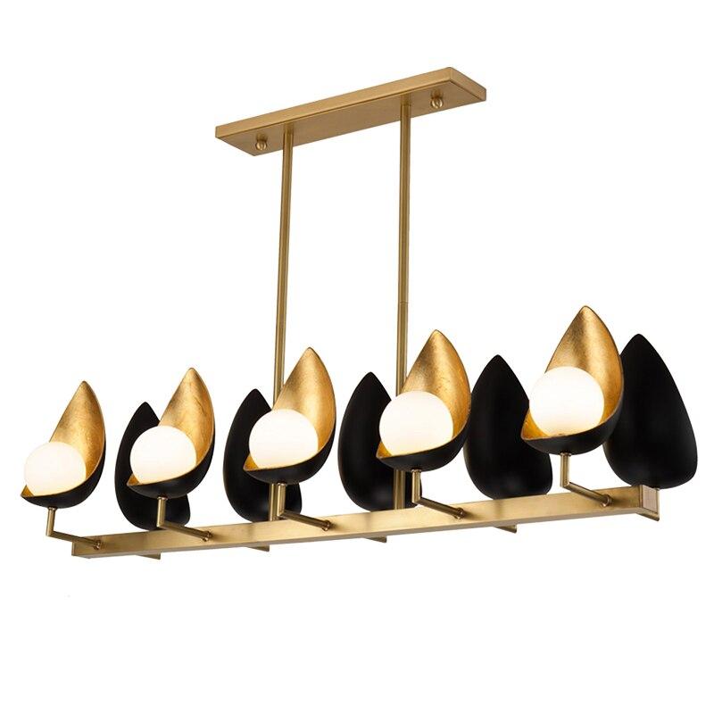 قاعة الثريا أثاث غرفة المعيشة رسمت باليد الذهب احباط عش الطيور LED مصباح