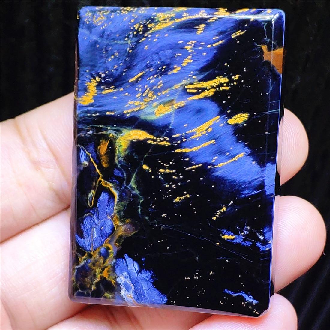 Genuine Natural Blue Pietersite Rectangle Pendant Women Men 53x35x8mm Pietersite Namibia Necklace Jewelry AAAAAA