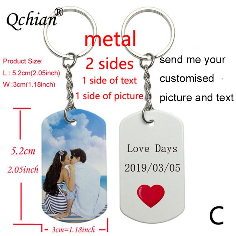 1 llavero de foto personalizado con impresión de texto, llaveros impresos, regalo interesante de moda de recuerdo de amor