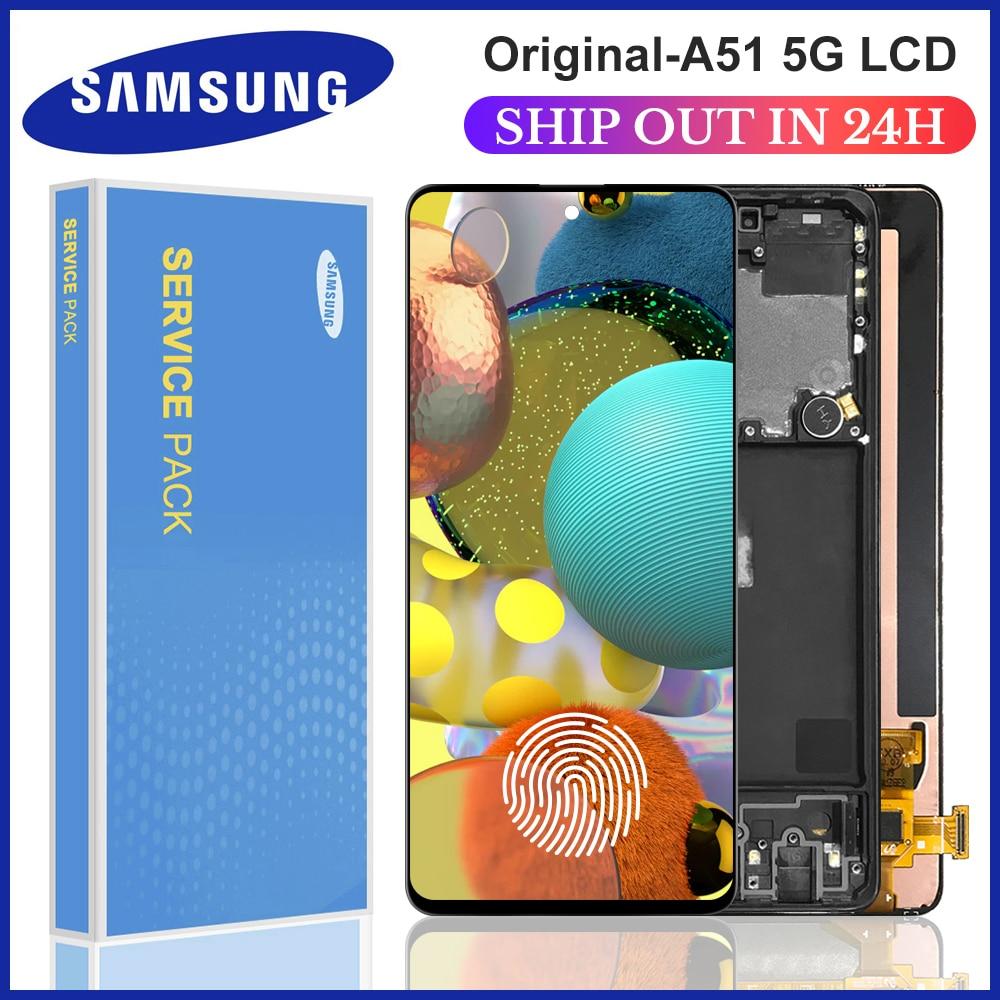 6.5 pièce de rechange dorigine pour samsung Galaxy A51 5G A516 A516F A516F/DS,A516FD LCD écran numériseur assemblée