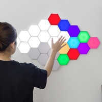 Modern LED RGB Night Light Dimming Quantum Lamp Modular Touch Sensitive Lighting Night Lamp Magnetic DIY Indoor Bedroom Decor