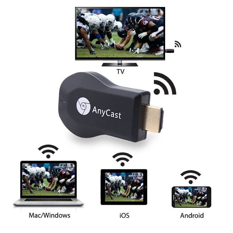 1080P Wireless TV Dongle Receiver Anycast M2 Plus For Chromecast PC TV Stick Airplay for ios andriod