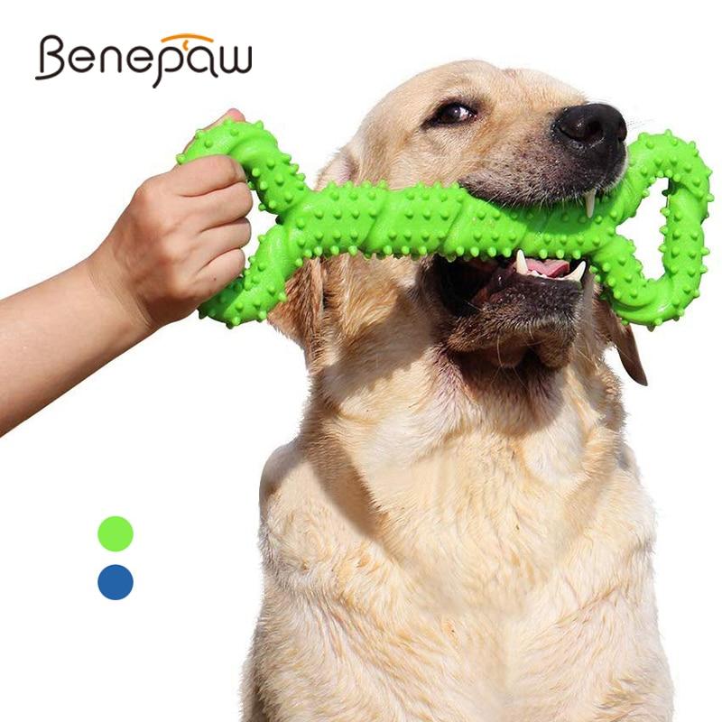 Benepaw-ألعاب حيوانات أليفة لتنظيف الأسنان ، للكلاب متوسطة وكبيرة ، تفاعلية ، متينة ، عظام الكلب بتصميم محدب