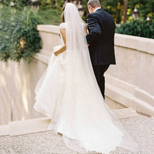 Velo de novia de tul transparente, velo de novia blanco marfil, catedral para novia 11059, 2