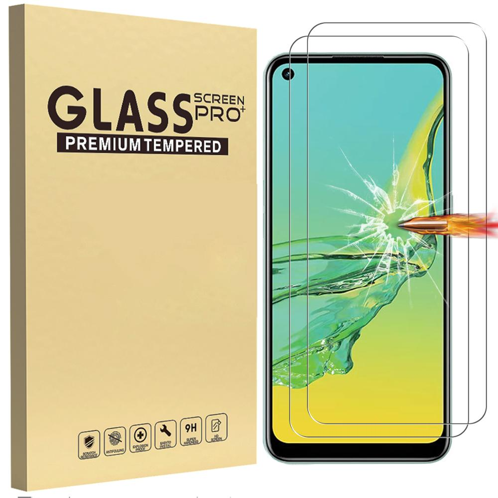 Tempered Glass for Oppo A32 Screen Protector Phone Glass Film Anti-Scratch 9H High Definition Transp