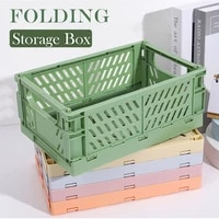 desktop folding storage basket sundry toys snack box dormitory artifact storage basket