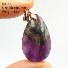 100% naturel Canada Auralite 23 collier pendentif collier pierres précieuses fête cadeau cristal Rectangle pierre pendentif bijoux AAAAA