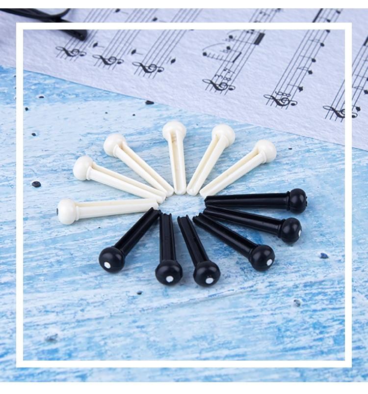 YINGTOUMAN guitarra puente alfileres sillín tuerca acústico ganado trasero accesorios de guitarra de plástico para herramientas de guitarra acústica